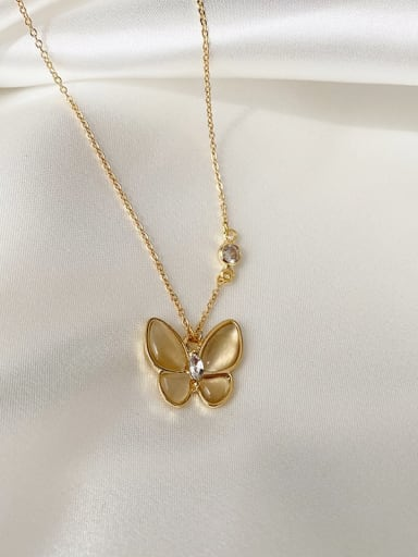 Necklace Alloy Cats Eye Butterfly Trend Necklace