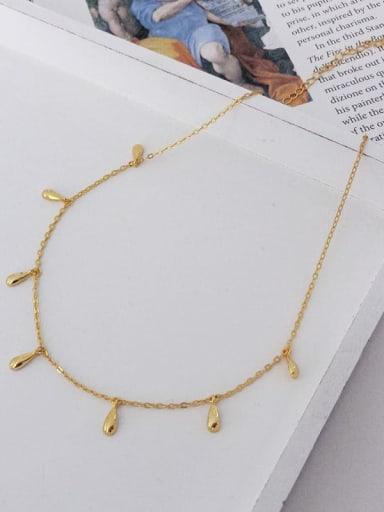 925 Sterling Silver Seven Water Drop Minimalist Necklace