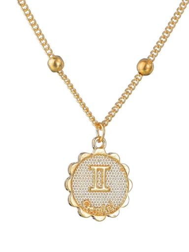 N1687 Alloy with Rhinestone Classic Zodiac Necklace