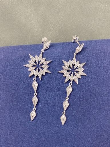 925 Sterling Silver Cubic Zirconia Drop Earring