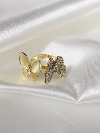 Ring Alloy Cats Eye Butterfly Trend Necklace