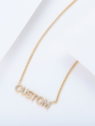 custom titanium rhinestone name necklace