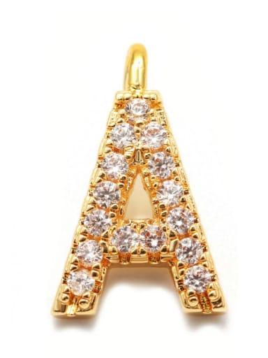 Gold a Copper CZ DIY Letter Artisan Initials Charm