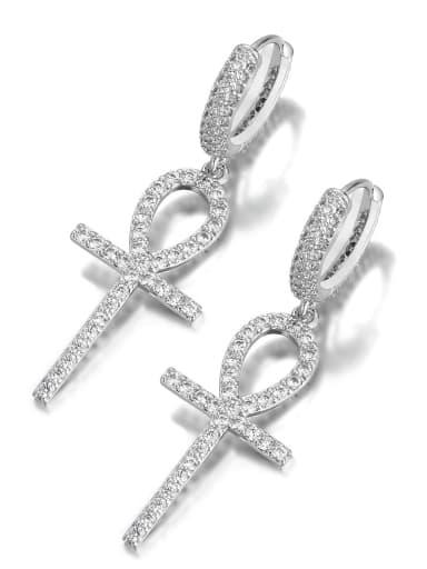 Brass Trend Cluster Earring