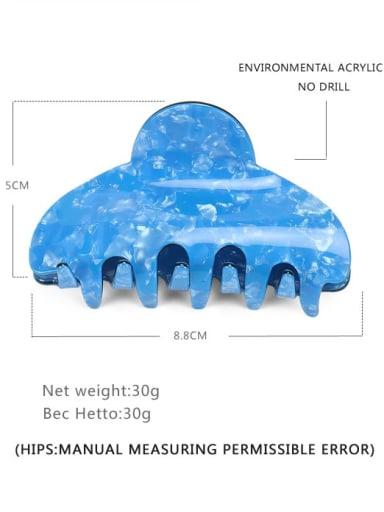 blue Acrylic Minimalist Geometric Alloy Jaw Hair Claw
