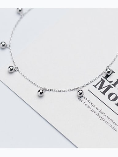 925 Sterling Silver Silver Minimalist Choker Necklace