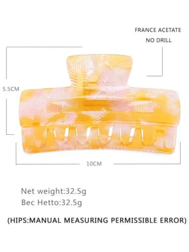 Color 3 Cellulose Acetate Minimalist Geometric Jaw Hair Claw