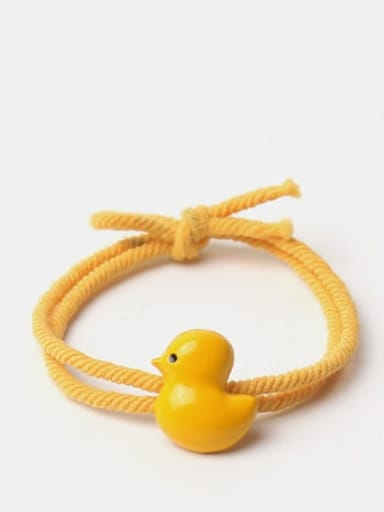 Cute Twisted Rope Yellow Chicken Hair Rope