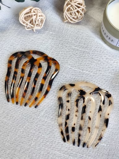 Cellulose Acetate Minimalist Geometric Multi Color Hair Comb