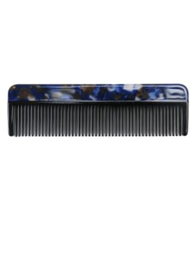 Broken flower blue Cellulose Acetate Minimalist Multi Color Hair Comb