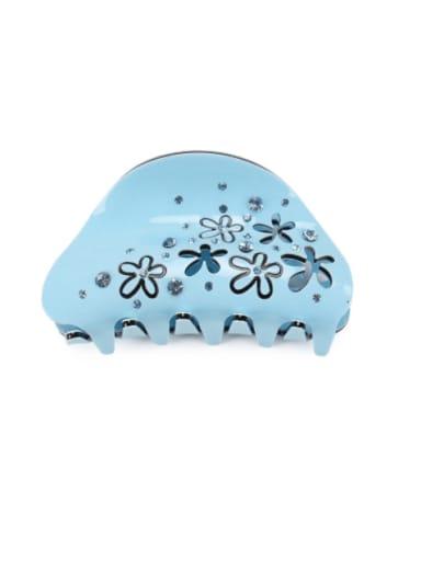 blue Acrylic Minimalist Geometric Alloy Rhinestone Multi Color Jaw Hair Claw