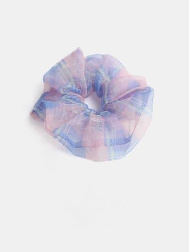 Pink Blue Minimalist Yarn  Hair Barrette