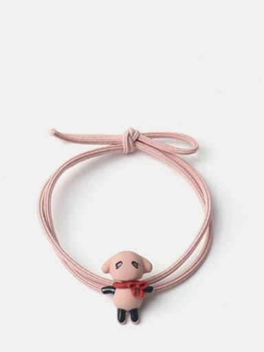 Puppy pink rope Cute Icon Hair Rope