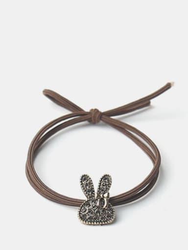 Alloy Cute Diamond Bow Bear Hair Rope