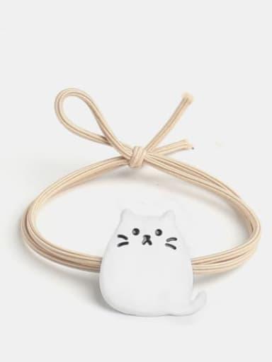 white Alloy Cute  chinchilla Hair Rope