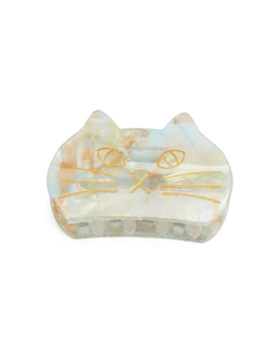 Light green gold Cellulose Acetate Minimalist Cat Multi Color Jaw Hair Claw