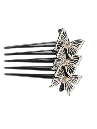 Off white Alloy Rhinestone Cellulose Acetate Minimalist Butterfly