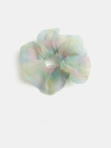 Yellow green Minimalist Yarn  Hair Barrette
