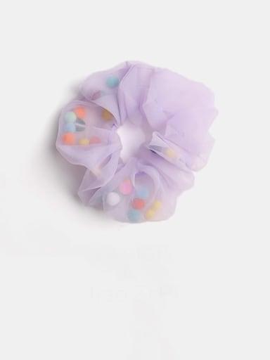 Light purple color ball Minimalist Yarn Hair Barrette Large Intestine Circle