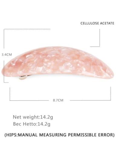 Marble powder Alloy Cellulose Acetate Minimalist Geometric  Multi Color Hair Barrette