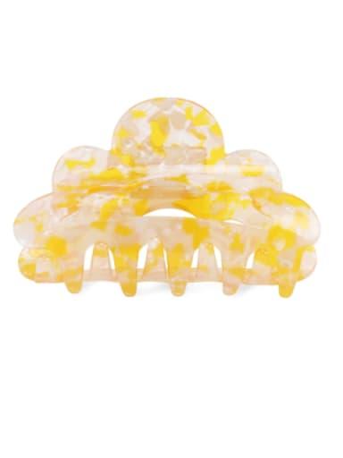 Broken flower yellow Alloy PVC Minimalist Geometric Multi Color Jaw Hair Claw