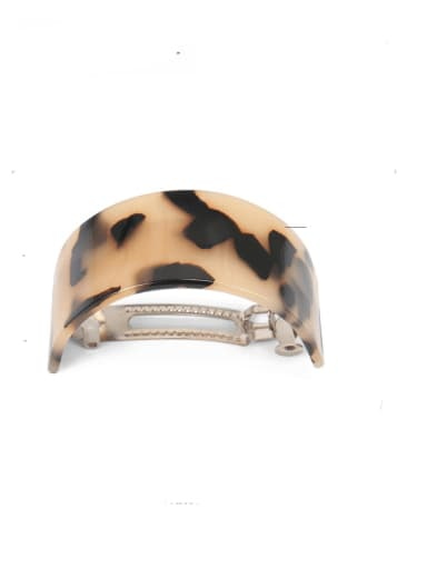 Rice hawksbill Alloy  Cellulose Acetate Vintage Hair Barrette