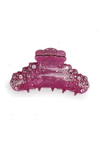 purple Alloy Rhinestone Acrylic Minimalist Irregular Jaw Hair Claw