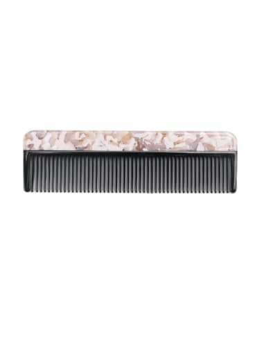 Broken pollen Cellulose Acetate Minimalist Multi Color Hair Comb