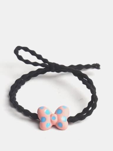 Pink Alloy Enamel Cute Butterfly Multi Color Hair Barrette