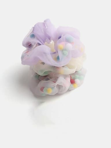 Minimalist Yarn Hair Barrette Large Intestine Circle