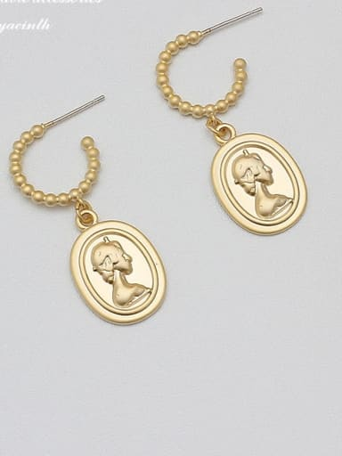 Alloy Gold Geometric Minimalist Drop Earring
