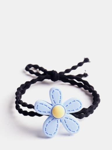 blue Enamel Cute Flower Resin Multi Color Hair Barrette