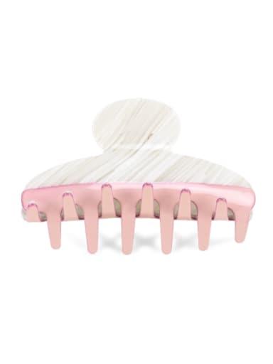 2 Cellulose Acetate Minimalist Geometric Multi Color Jaw Hair Claw