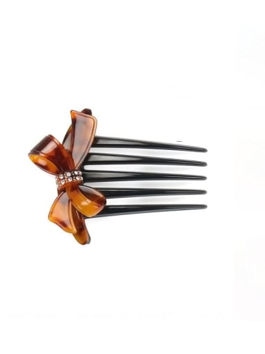Red hawksbill Cellulose Acetate Minimalist Butterfly Multi Color Hair Comb