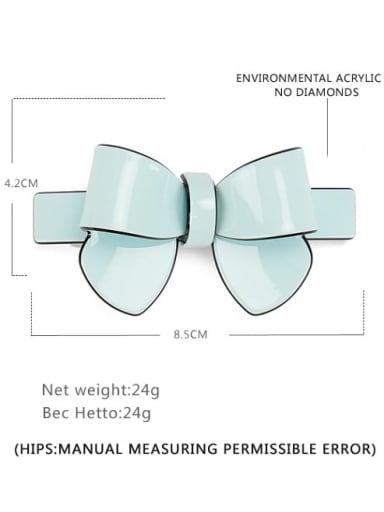 Light green large Cellulose Acetate Minimalist Bowknot Alloy Multi Color Hair Barrette