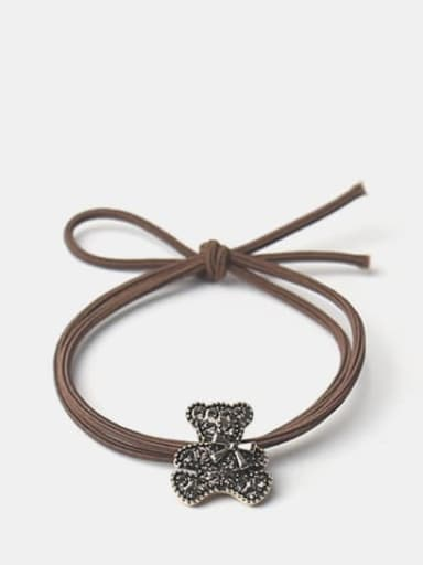 Diamond bow bear Alloy Cute Diamond Bow Bear Hair Rope