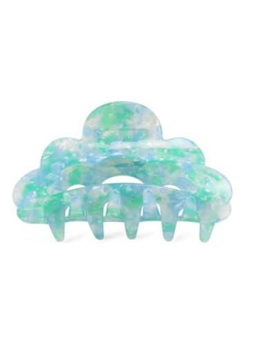 Broken flower green Alloy PVC Minimalist Geometric Multi Color Jaw Hair Claw