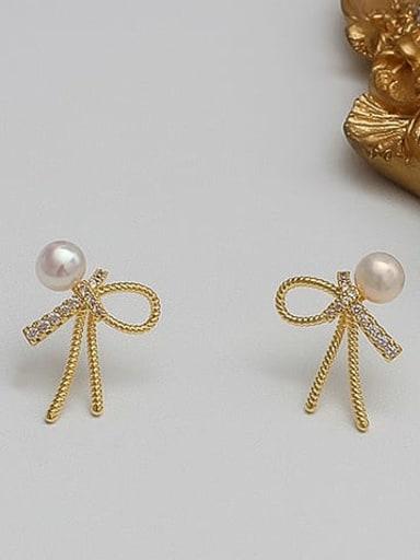 Alloy Zircon Gold Bowknot Classic Earring