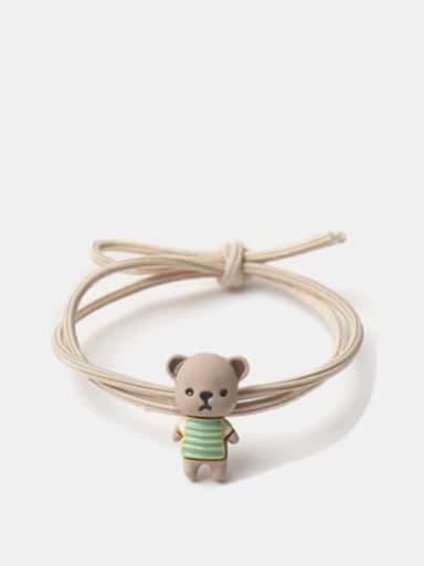 Alloy Enamel Cute Bear  Multi Color Hair Rope