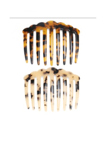 Cellulose Acetate Minimalist Multi Color Hair Comb