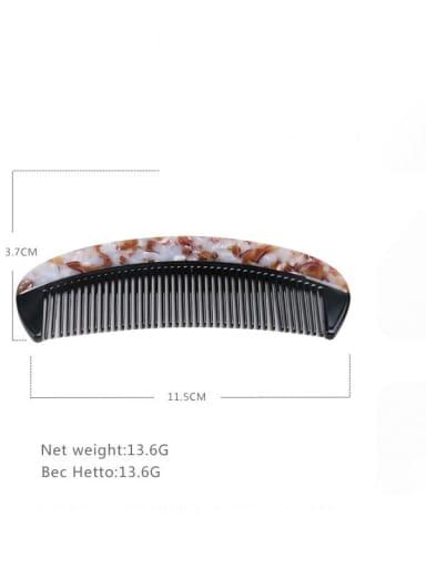 Light brown Cellulose Acetate Minimalist Geometric Multi Color Hair Comb
