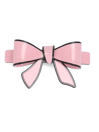 Pink Cellulose Acetate Minimalist Butterfly Hair Barrette