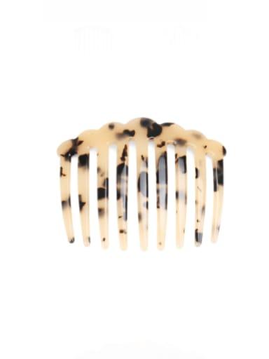 Shallow hawksbill Cellulose Acetate Minimalist Multi Color Hair Comb