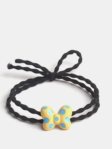 Yellow Alloy Enamel Cute Butterfly Multi Color Hair Barrette