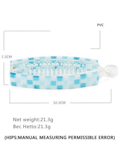 Plaid blue Alloy  PVC Minimalist Geometric Multi Color Hair Barrette