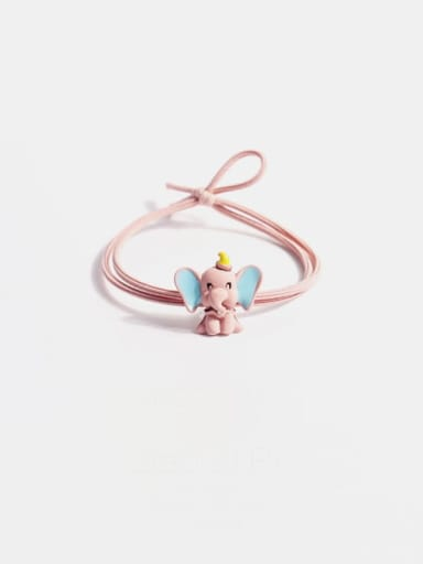 Pink flying elephant Alloy  Simple Cute Small Flying Elephant Multi Color Hair Rope