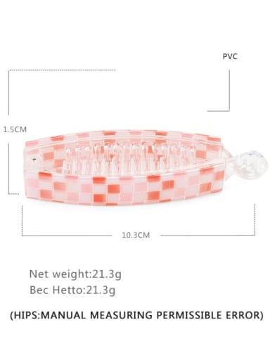 Plaid Pink Alloy  PVC Minimalist Geometric Multi Color Hair Barrette