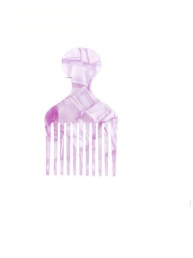 Lavender Cellulose Acetate Minimalist Multi Color Hair Comb