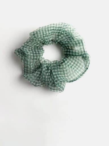 green Minimalist Yarn  Hair Barrette