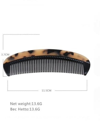 Shallow hawksbill Cellulose Acetate Minimalist Geometric Multi Color Hair Comb